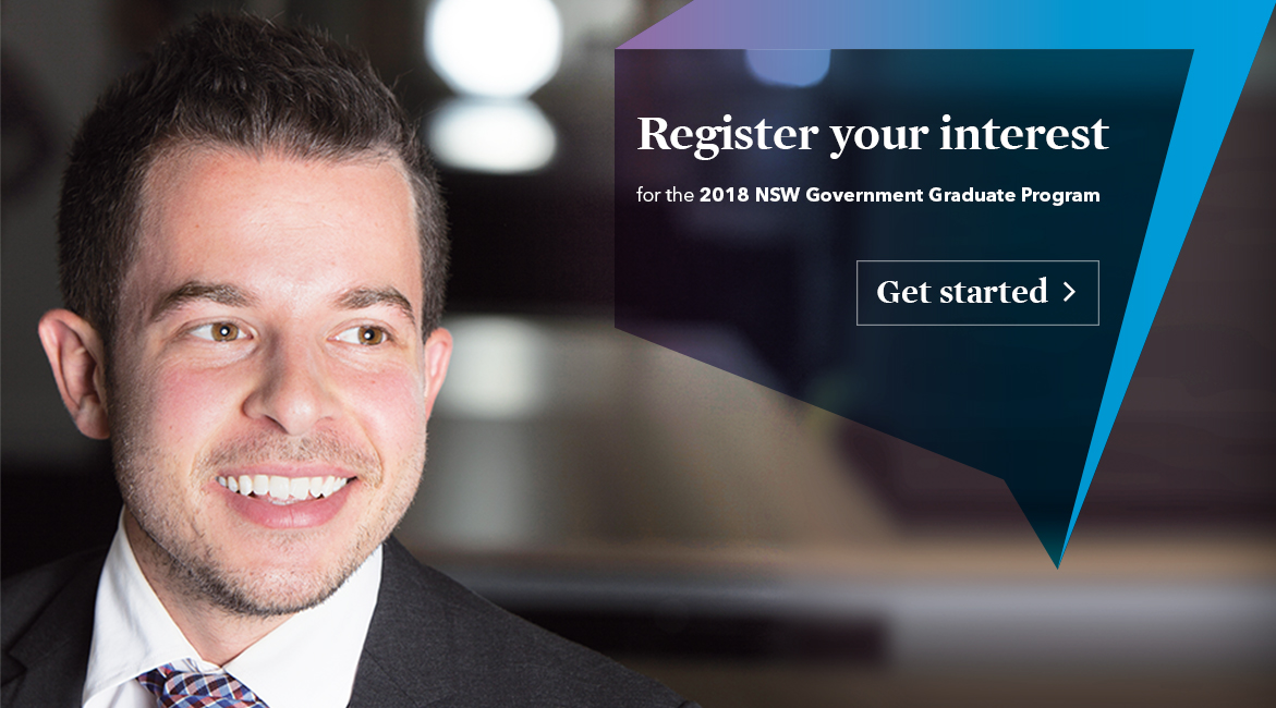 Register your interest for the 2018 NSW Government Graduate Program