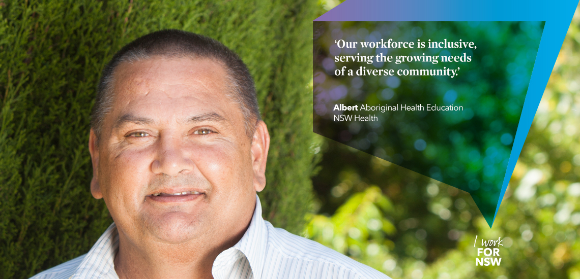Albert -  Aboriginal Health Education Officer NSW Health | I work for NSW