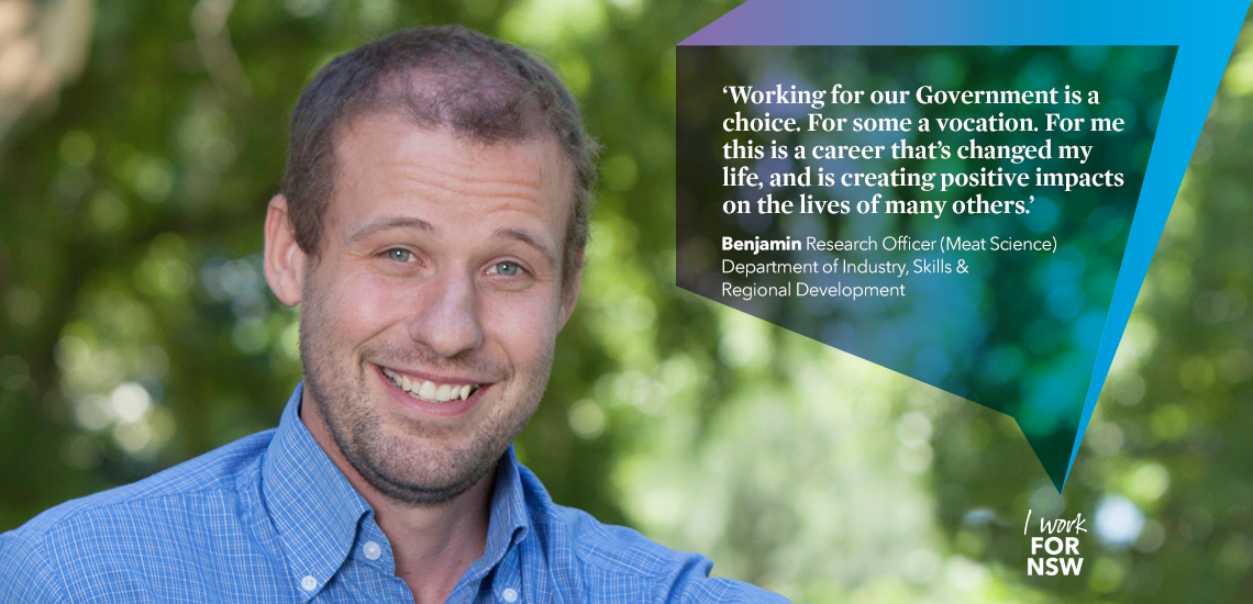Benjamin - Research Officer NSW Department of Industry, Skills and Regional Development career profile | I work for NSW