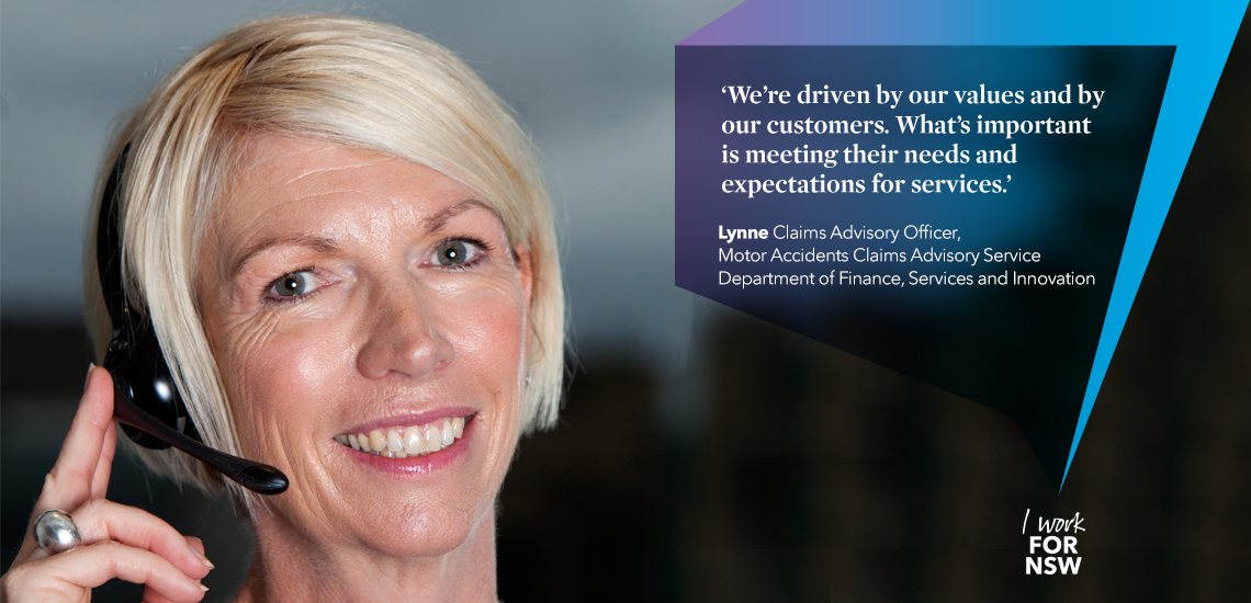 Lynne - Claims Advisory Office NSW Department of Finance, Services and innovation | I work for NSW