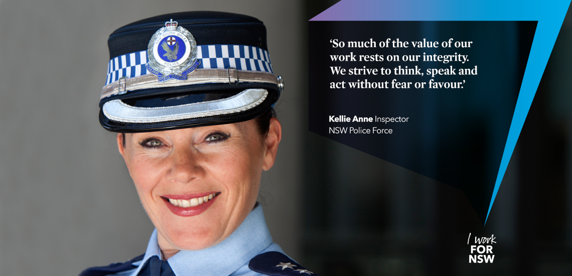 Kellie Ann - Inspector NSW Police Force career profile | I work for NSW
