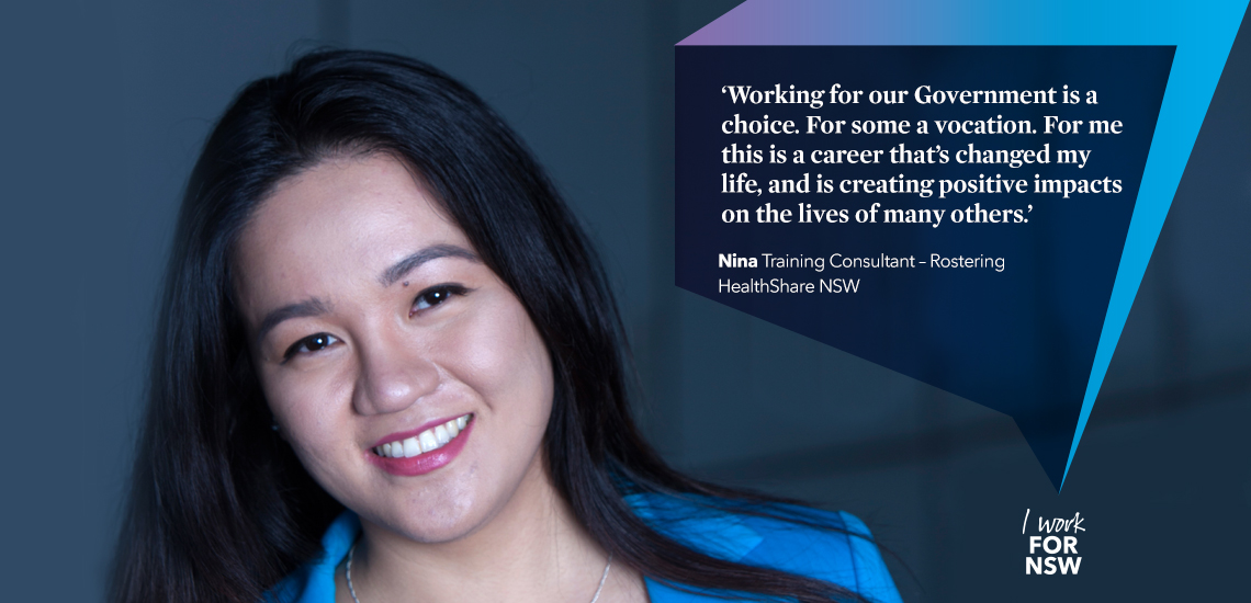 Nina - Training Consultant HealthShare NSW | I work for NSW