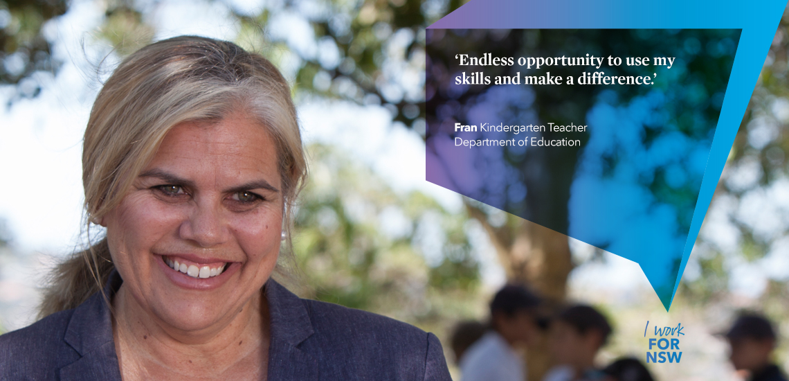Fran - Kindergarten Teacher Department of Education | I work for NSW