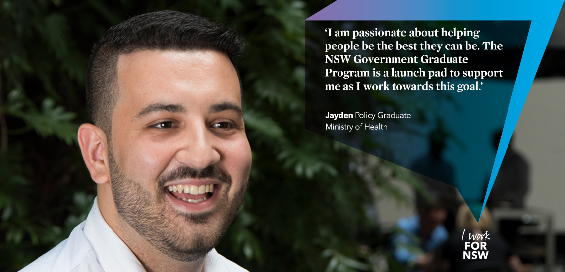 Jayden - Policy Graduate NSW Ministry of Health | I work for NSW