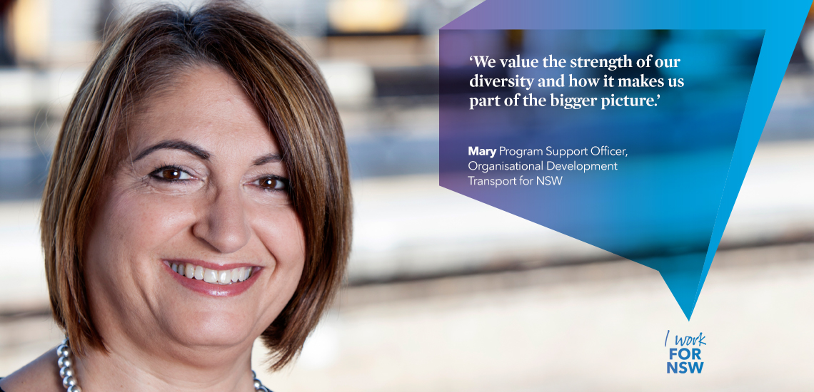 Mary - Program Support Officer Organisational Development Transport NSW | I work for NSW