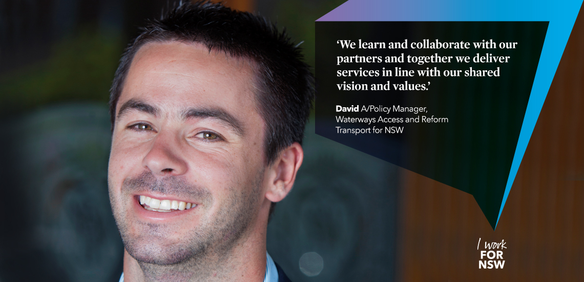 David - Acting Policy Manager NSW Waterways Access and Reform transport career profile | I work for NSW