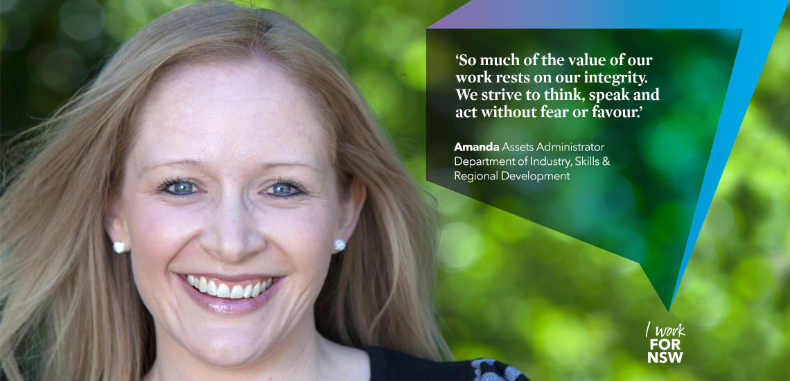 Amanda - Assets Administrator NSW Department of Industry | I work for NSW