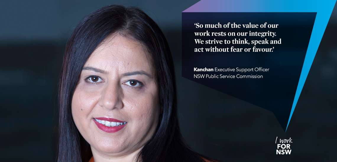 Kanchan - Executive Support Officer NSW Public Service Commission | I work for NSW
