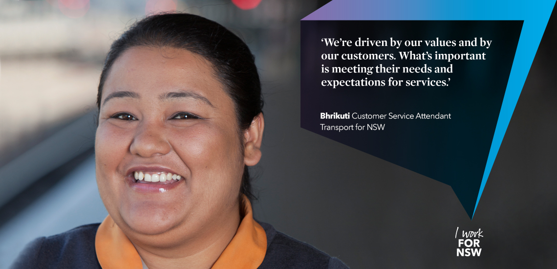 Bhrikuti - Customer Service Attendant Transport NSW career profile | I work for NSW