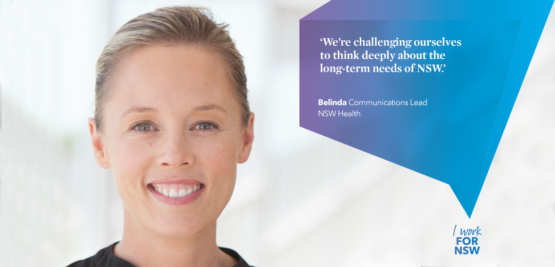 Belinda - Communications Lead NSW Health | I work for NSW