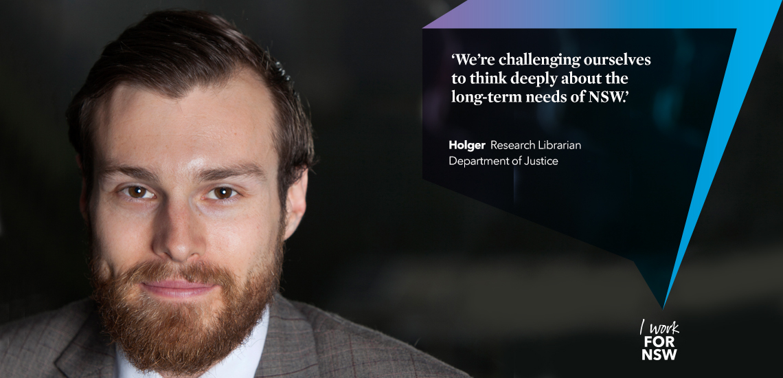 Holger - Research Librarian NSW Department of Justice | I work for NSW